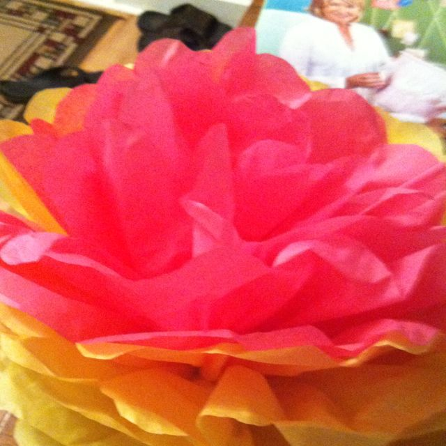 Made this today tissue paper flower out of martha stewarts tissue paper flower out of martha stewarts encyclopedia of crafts mightylinksfo