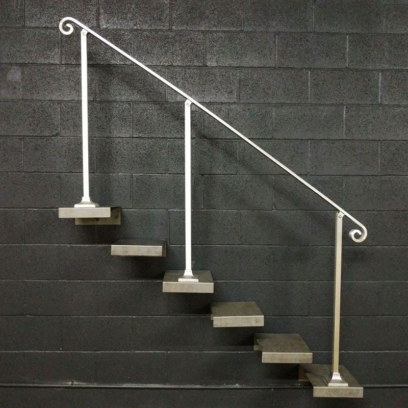 Best 6 7 Or 8 Foot Aluminum Handrail For Stairs With Base 400 x 300
