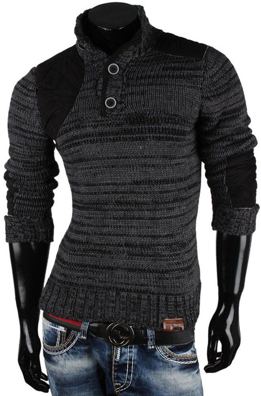 TAZZIO Herren Grobstrick Pullover Größe S-XXL: Amazon.de: Bekleidung