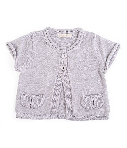 Toffee Moon Silver A-Line Short Sleeve Cardigan | Baby clothing ...