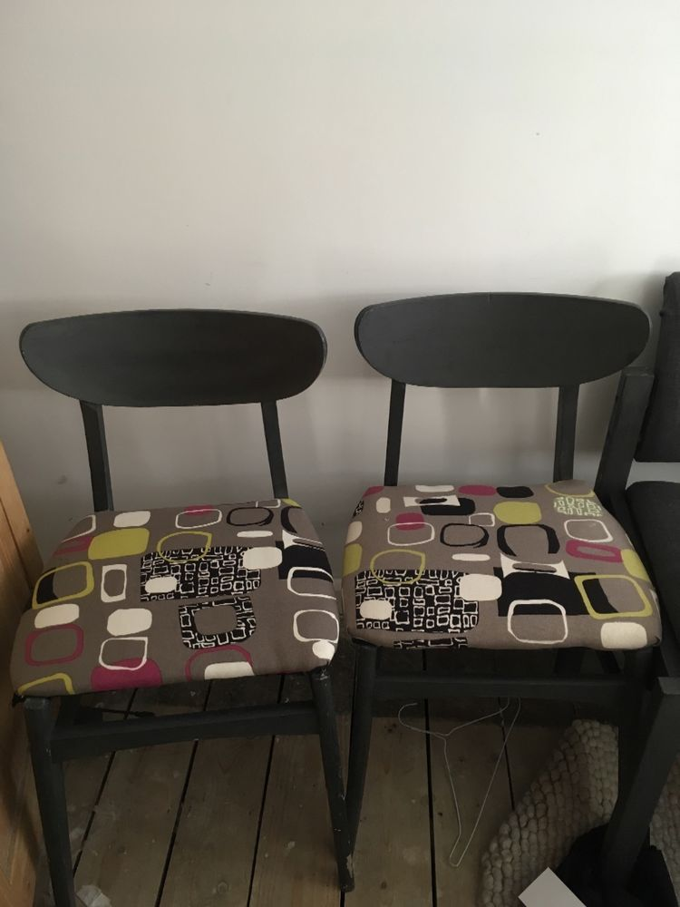 two upcycled 1960s retro dining chairs | eBay | Dining chairs etc ...