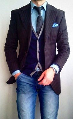 stripes   denim   Men s Fashion in 2019   Pinterest   Mens fashion ... 608649a1b791