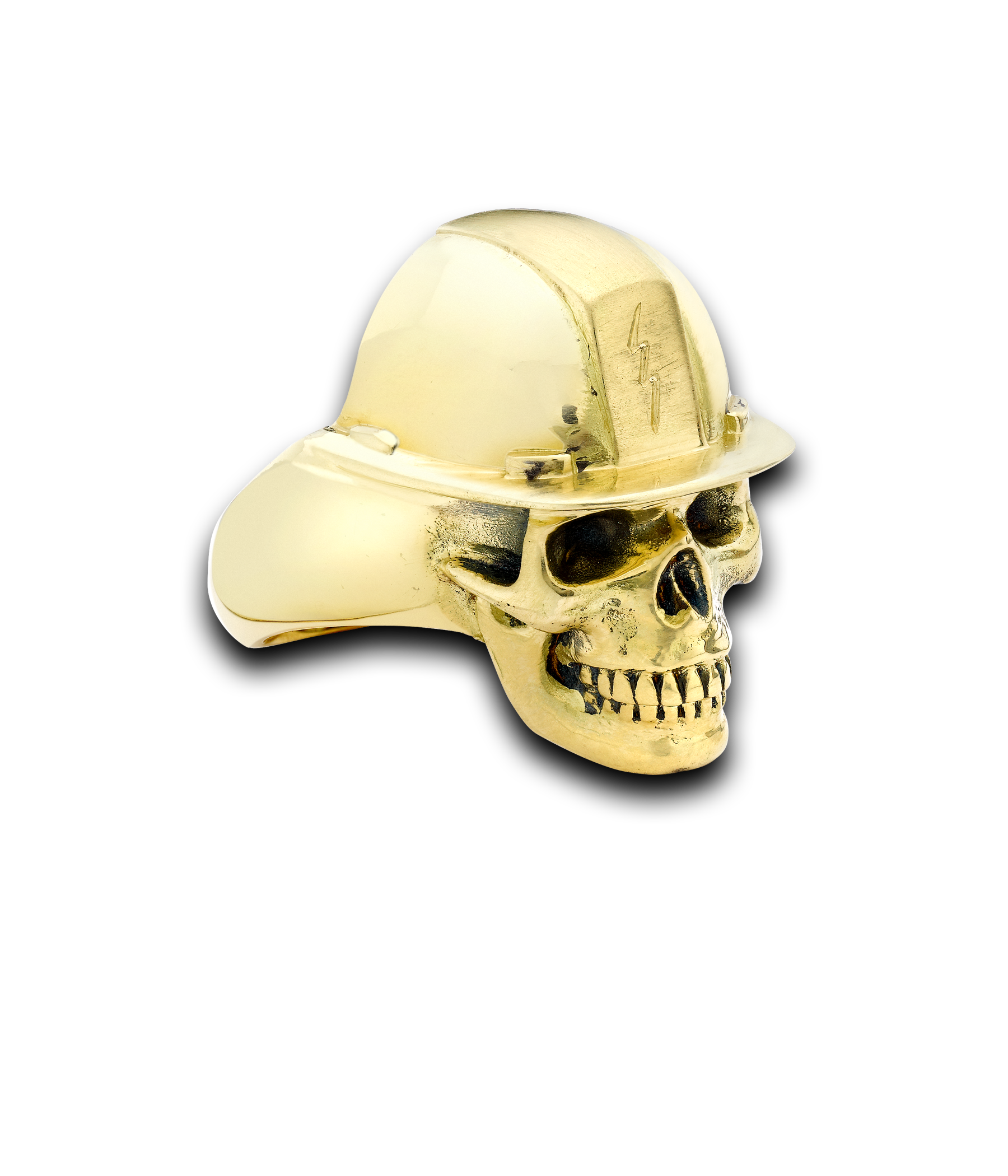 construction worker skull ring by theo fennell anillos