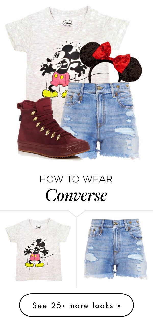 """Park Trip #36"" by basic-disney on Polyvore featuring R13 and Converse"