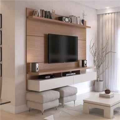 Resultado De Imagen Para Painel De Tv Com Rack Suspenso Living Room Tv Home Living Room Designs