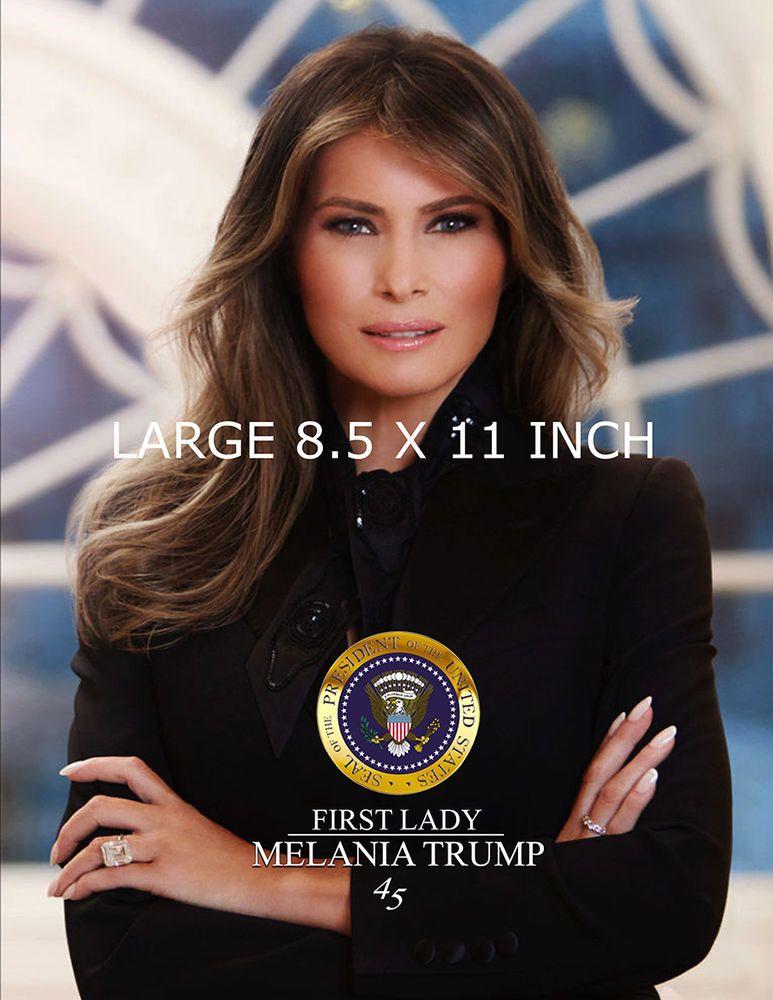 FRAMED OFFICIAL PORTRAIT OF PRESIDENT DONALD J TRUMP 8.5 X 11 PHOTO