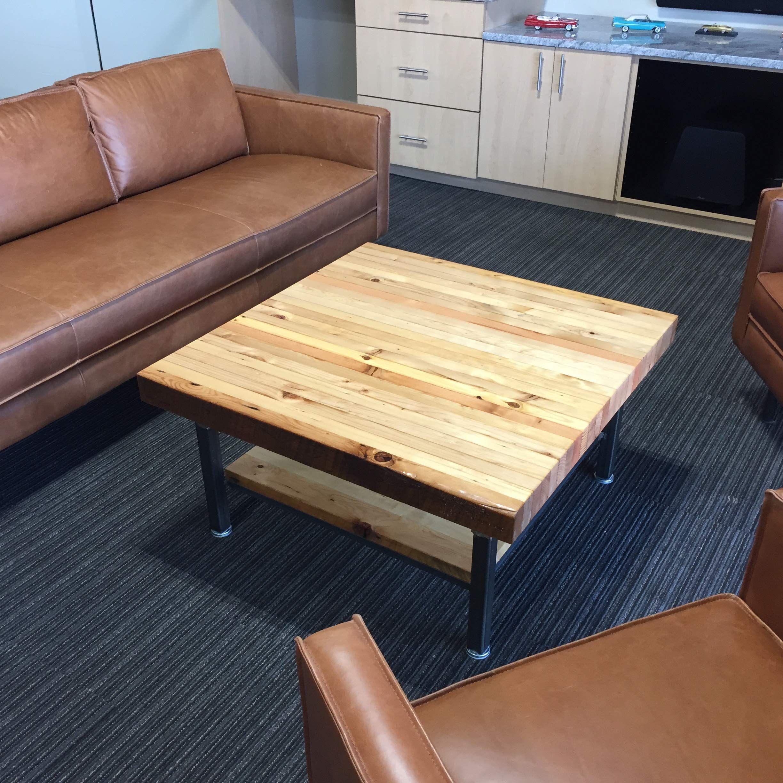 Grand Boulevard Industriale Reclaimed Wood Coffee Table 36 X 36