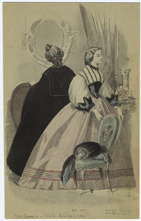 Fashion plate, 1863 US, Peterson's Magazine