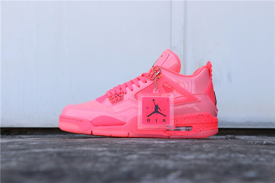 d58e56a29352 Air Jordan 4 Retro NRG Hot Punch AQ9128-600 Pink Patent Leather 36 ...
