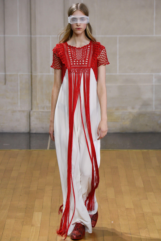 Veronique Branquinho Spring 2016 Ready To Wear Fashion Show Ideias Fashion Moda Vestido De Croche