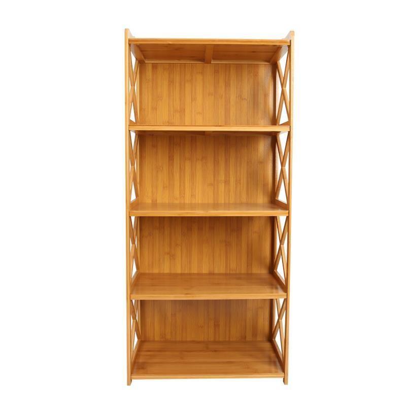Bookshelf Racks Student Home Economy Children Floor Wooden Simple Bookcase