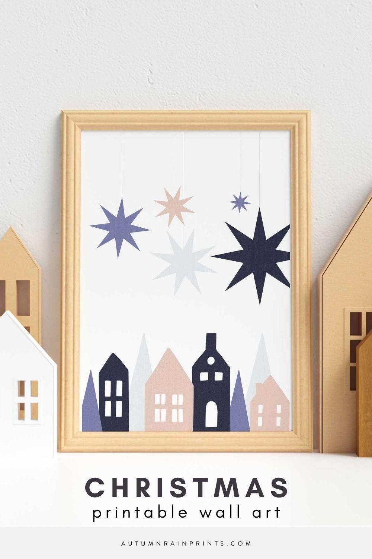 Digital Download Scandinavian Christmas Art Christmas Wall Etsy In 2020 Modern Christmas Art Printable Wall Art Wall Art Sign