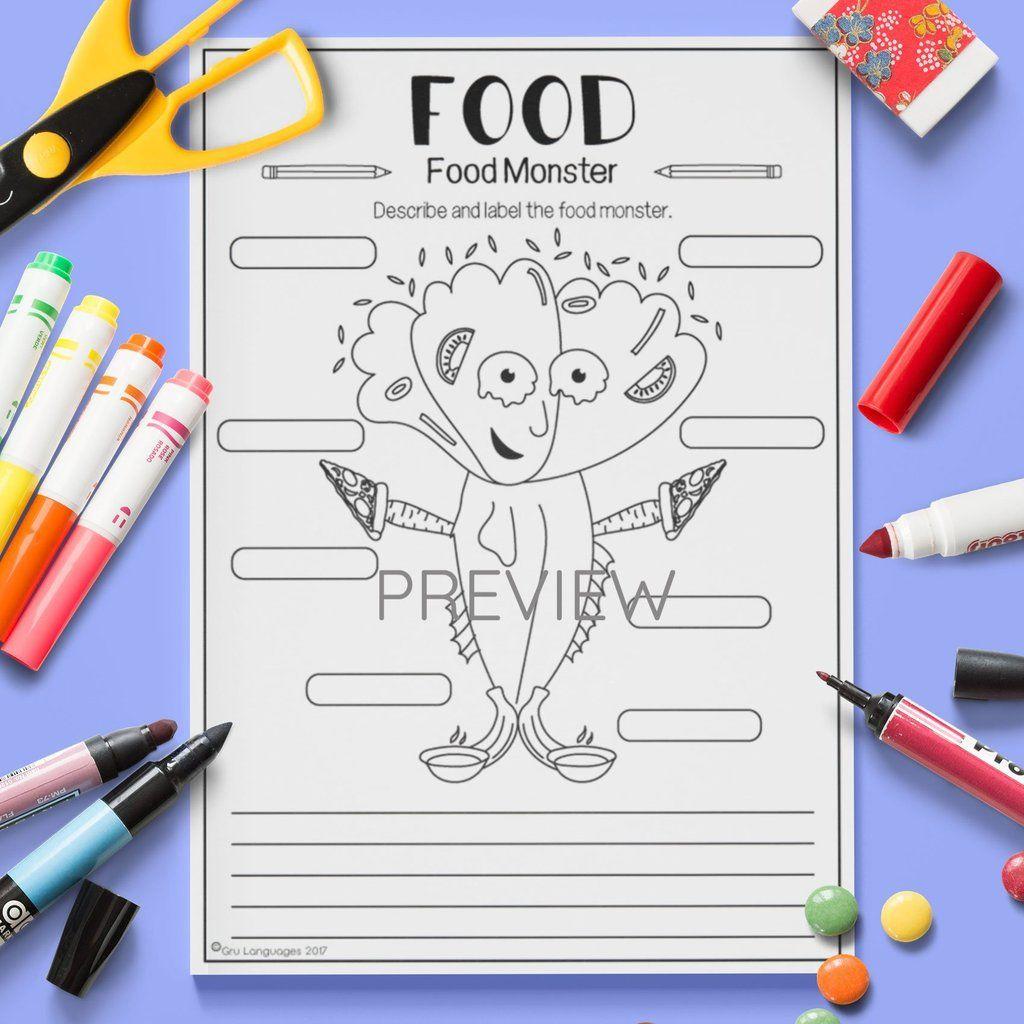 Food Food Monster Food Lessons Monster Activities Food Activities