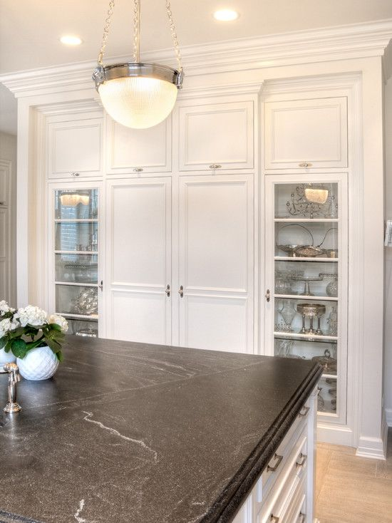 Granite Countertops: Color: Jet Mist Or Called Virginian Mist (dark Gray  With White