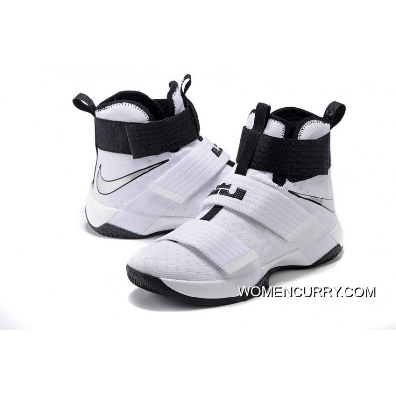 100% authentic 21066 527db Nike Zoom LeBron Soldier 10 White-Black Metallic Silver Top Deals