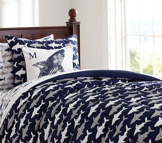 Home Decor Coastal Style Shark Comforter Sham