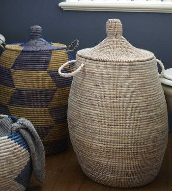 Woven West African Hampers For The Home Basket Weaving