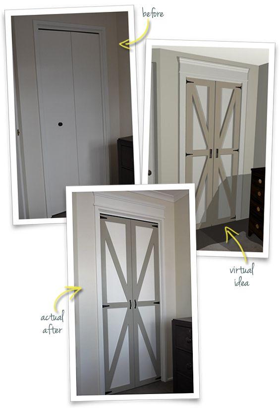 Pin By Mudpaint On Doors Bifold Doors Makeover Bifold Barn Doors Home
