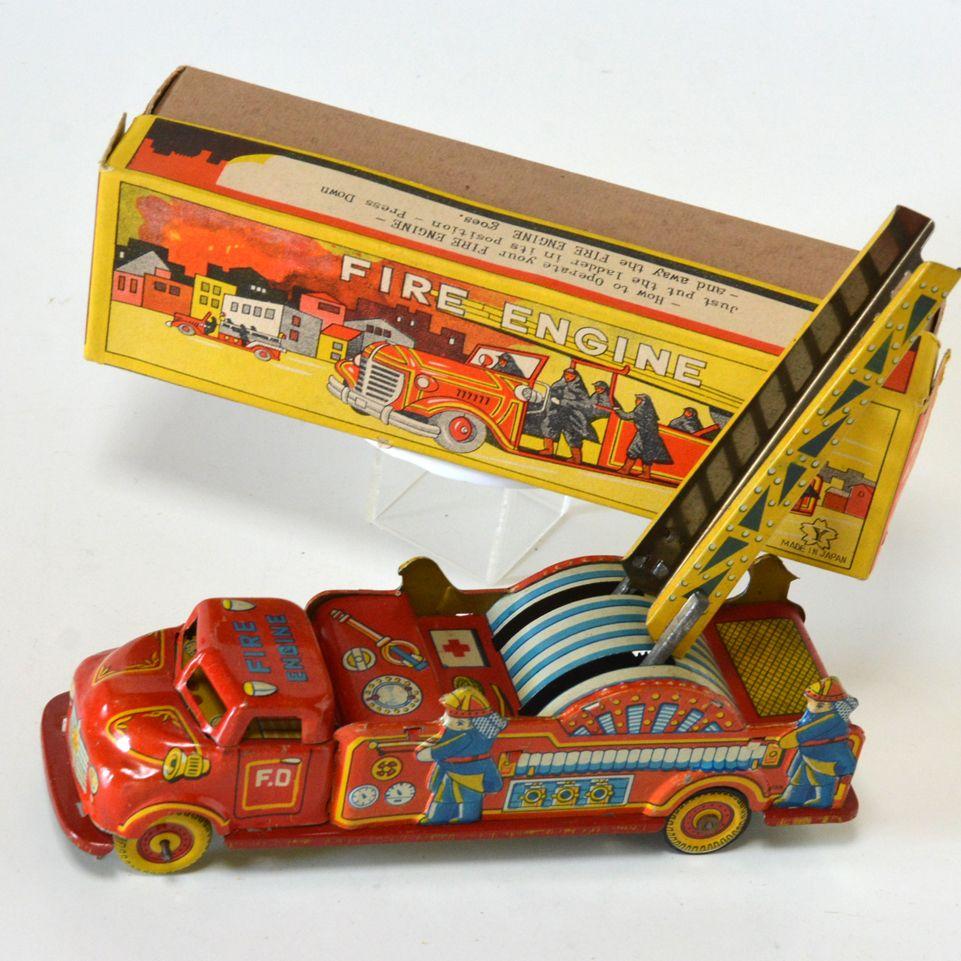 Lil Fire Fighters Feuerwehr Holz Spielzeugkiste. Haben Ihre