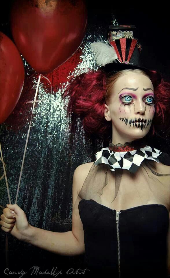 This Hollywood Quality Fantasy Makeup is Fantastic and a Little Scary | Pinterest | Halloween makeup clown Clown makeup and Halloween makeup  sc 1 st  Pinterest & This Hollywood Quality Fantasy Makeup is Fantastic and a Little ...