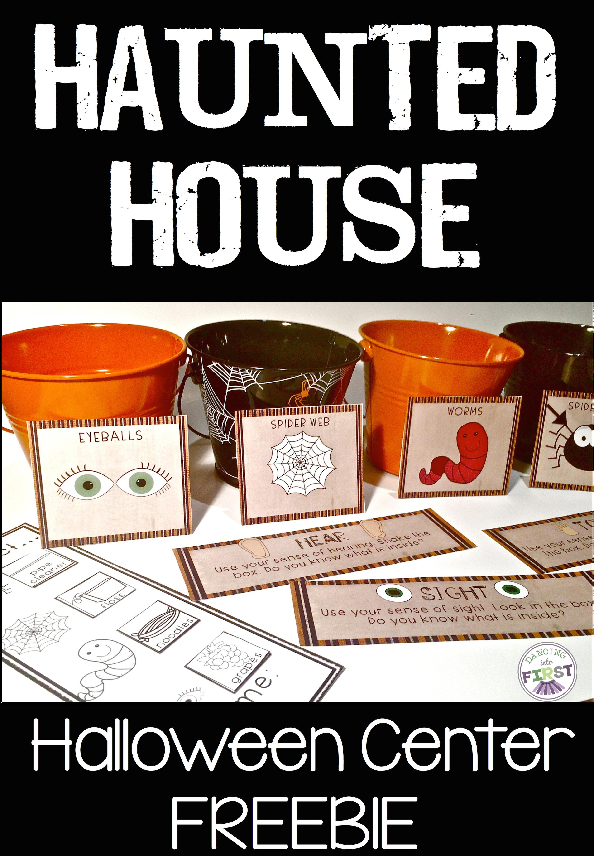 Halloween Center Haunted House Using Senses Freebie