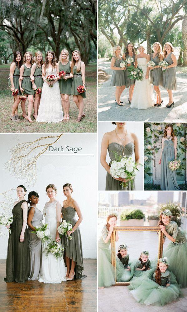 Dark Sage Bridesmaid Dresses For Fall Wedding Fall Bridesmaid Dresses Sage Bridesmaid Dresses Fall Bridesmaids