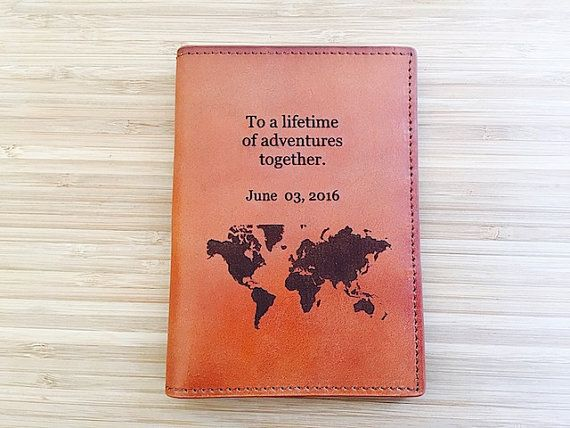 1fd58d548c80 Leather Travel Wallet Personalized, Multiple Passport Cover, Dual ...