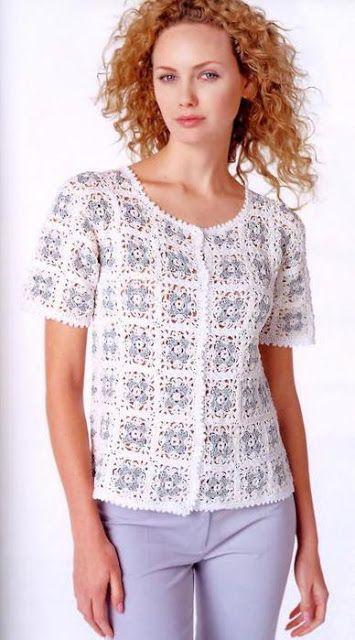 Crochet golden blouse Diagram   Dicas   Pinterest   Modèle et Crochet 39845b3ba30b