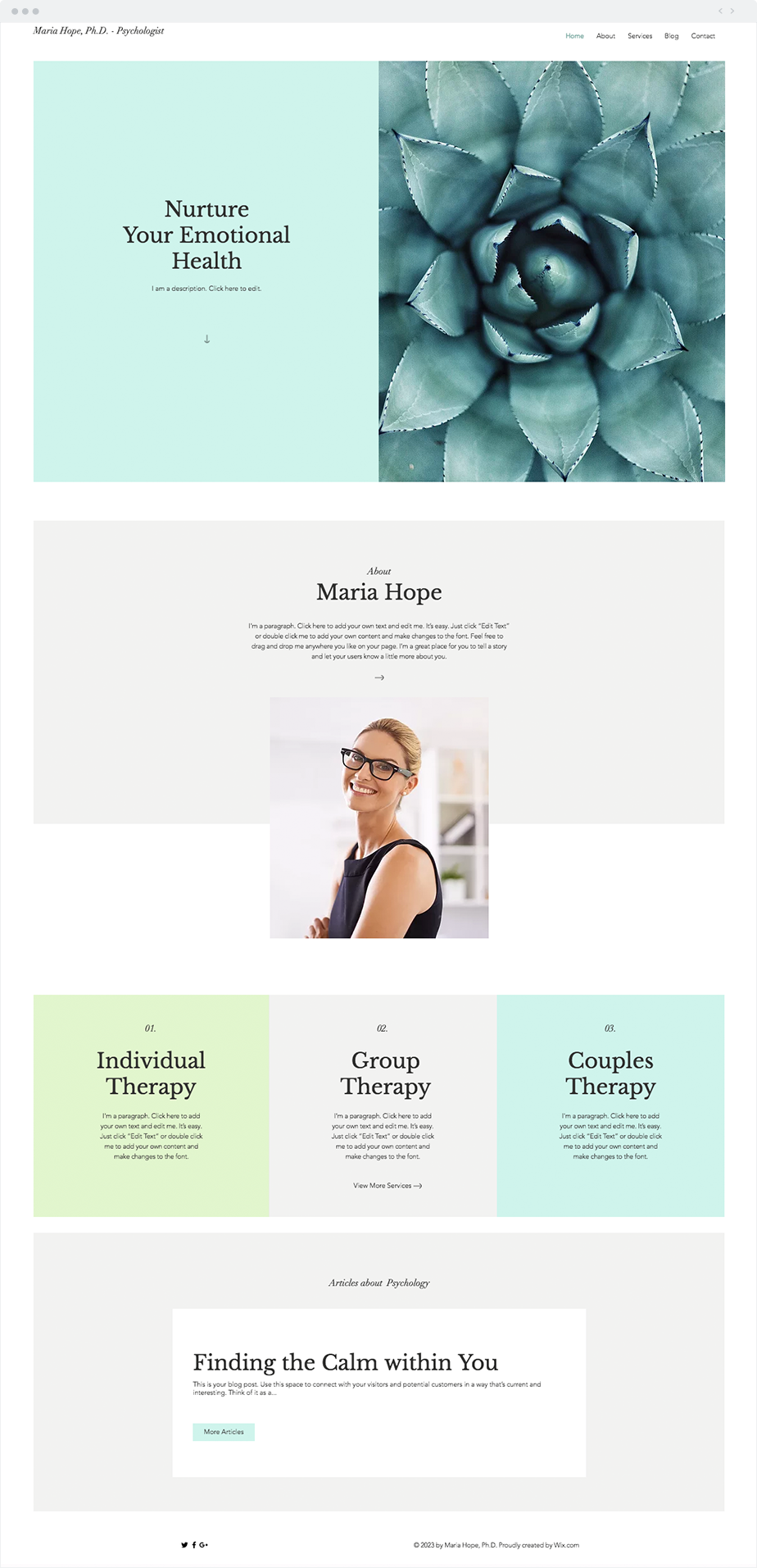 Psychologist Website Template Wix Templates Wix Website Templates Website Template