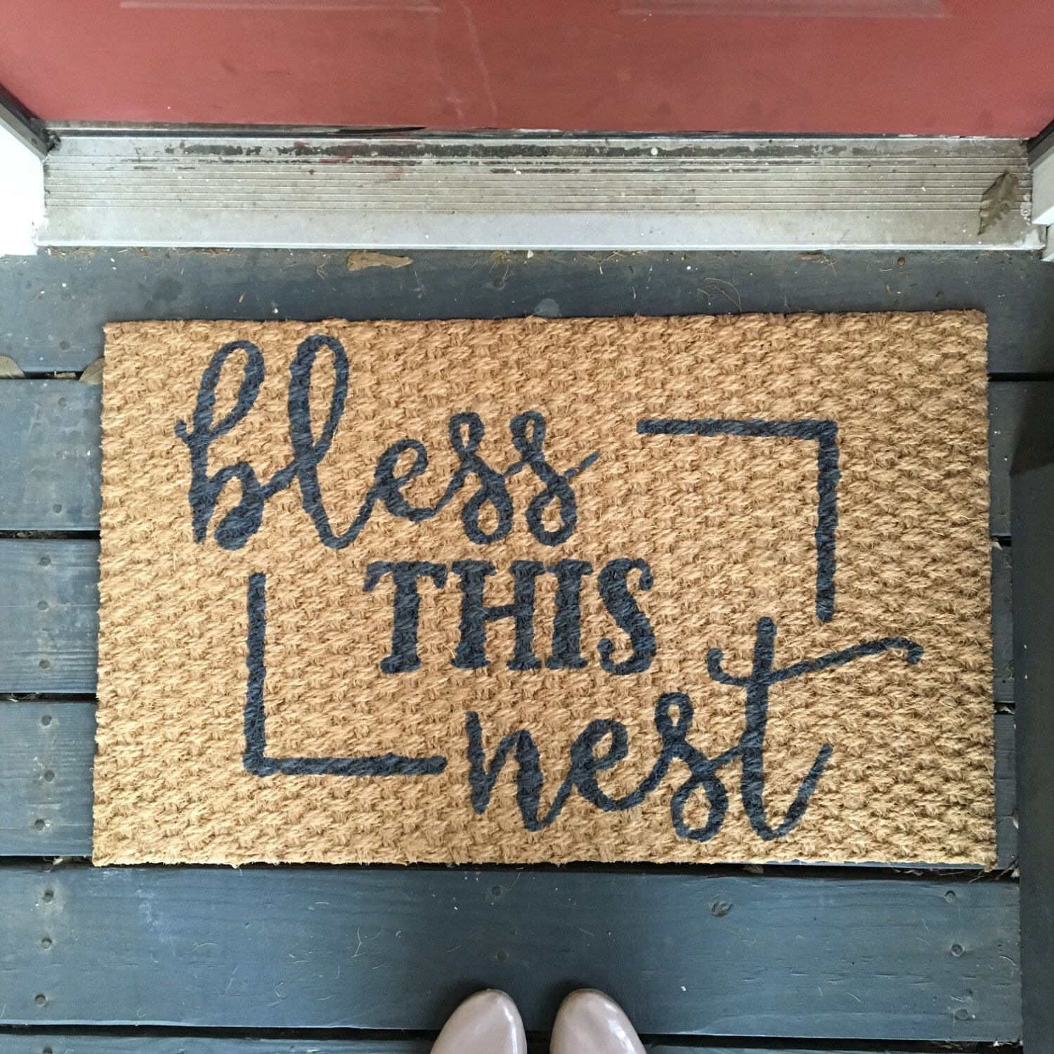 Bless This Nest Welcome Mat Home Diy Accents