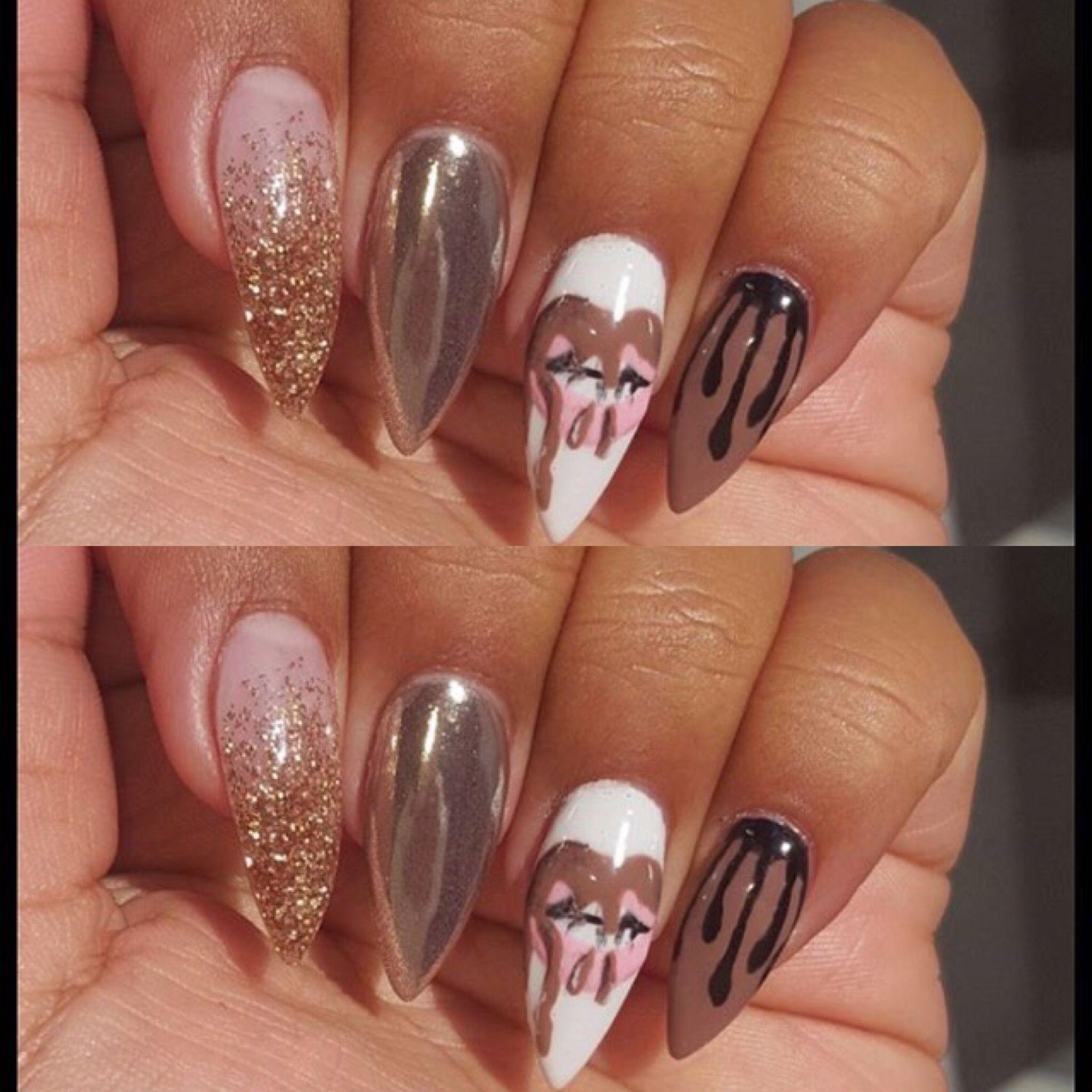 Kylie Jenner   Bling Nails   Pinterest   Stiletto-Nägel, Nagelschere ...