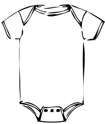 Onesie Color Page Onesie Colouring Pages Diaper Parties