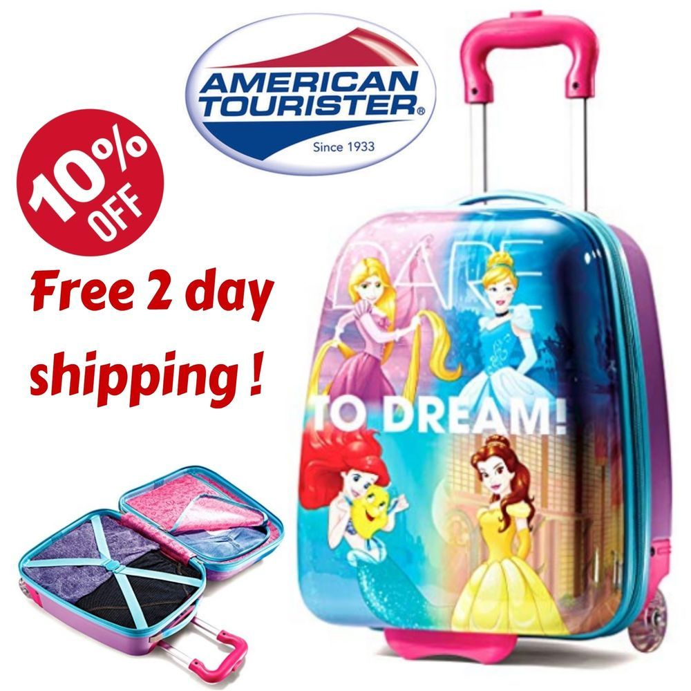 b47e5bd9610 Disney Princess Rolling Hard Luggage Suitcase Carry On Travel Kids Girl Bag  18