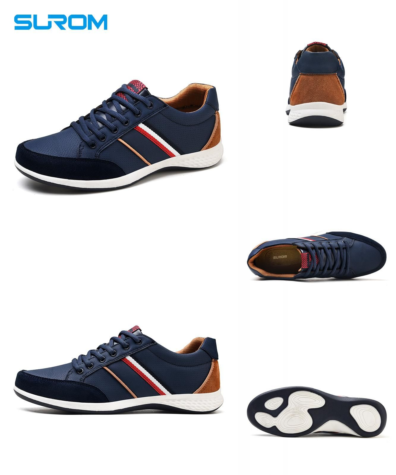 Visit to Buy  SUROM Men Casual Shoes 2017 Spring Autumn Lace up British  Style 34b040ca89ad