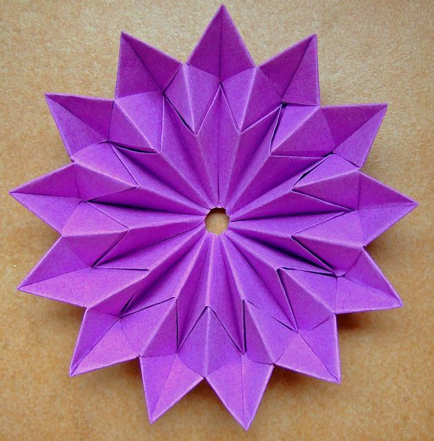 Origami star flower origami stars star flower and origami origami star flower by evi binzinger via flickr mightylinksfo Images