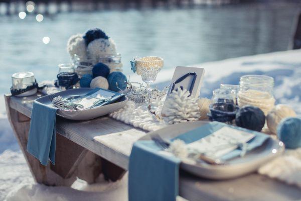 Winter Tischdekoration Foto Http Www Weddingmemories De