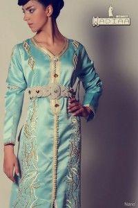 قفطان مغربي أزرق سماوي بالطرز و حزام بالصقلي Islamic Fashion Fashion Moroccan Caftan