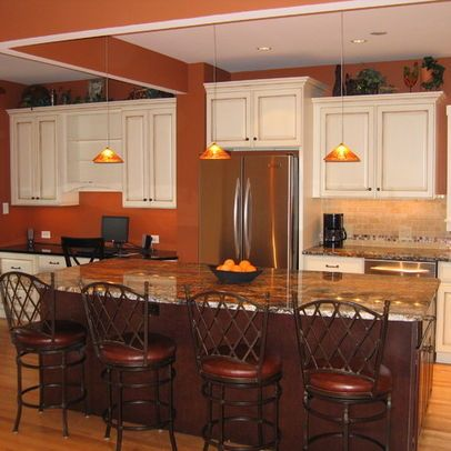 Burnt Orange Paint W White Cabinets Paint Colors