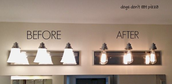 How To Update Bathroom Lighting Its As Easy As Changing A - Long bathroom light fixtures