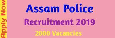 Assam Police Recruitment 2019 Job News Assam Govt Job Of Assam