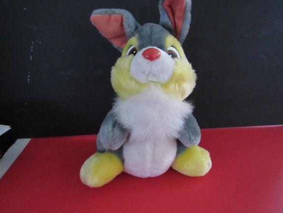 11 VINTAGE THUMPER Bunny Rabbit Bambi Soft Plush by mariehotdeals