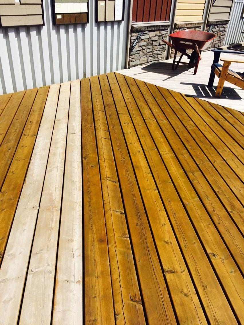 Superdeck Semi Transpa Cedar Deck Stain One Coat True Oil Based On A Pressure Treated