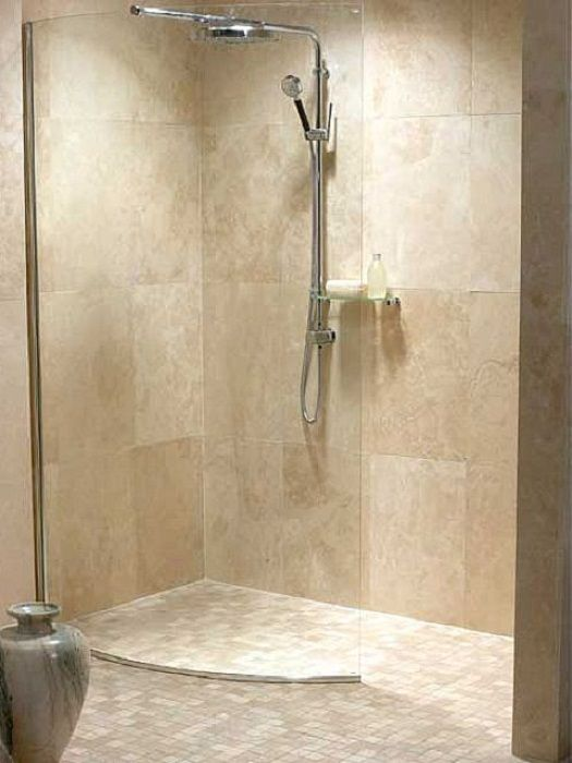Travertine bathroom on pinterest travertine shower for Travertine tile bathroom gallery