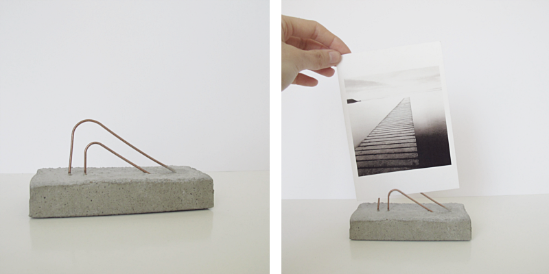 feel inspired blog diy concrete card holder diy pinterest beton design beton deko und. Black Bedroom Furniture Sets. Home Design Ideas