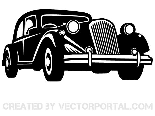 Vector Retro Car Retro Cars Retro Car Drawing Vw Art