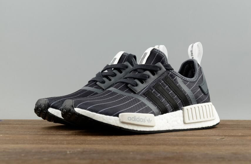 6844a6aa1 Adidas Original NMD R1 Bedwin BB3124 Black Grey Real Boost Sport Sneakers 8