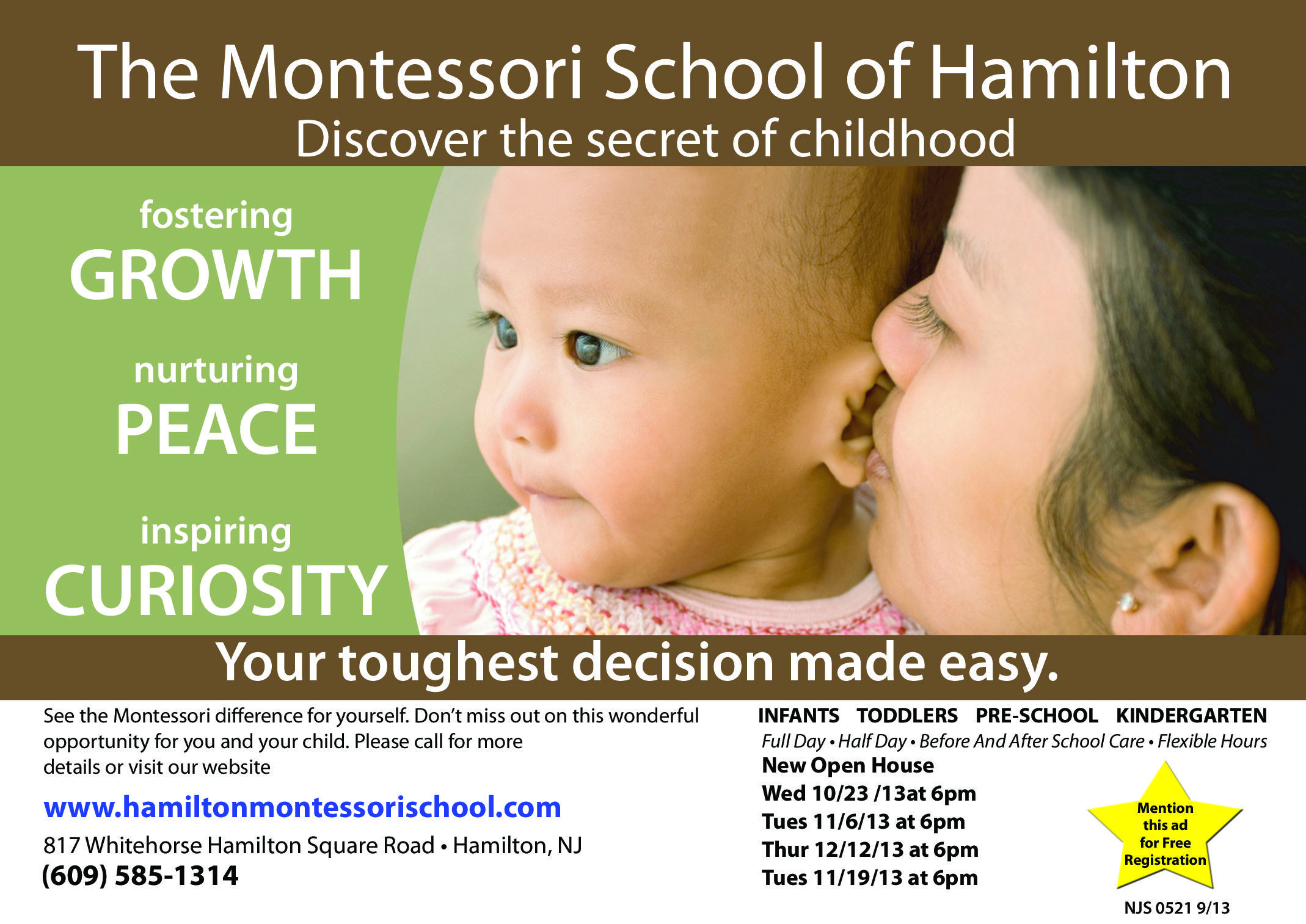 Catholic Preschool Enrollment Flyer