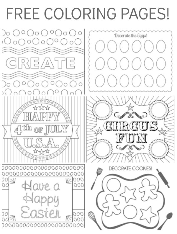 Free Coloring Pages, she's just started a coloring page section