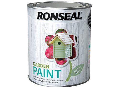 Ronseal RSLGPSG25L 2.5 Litre Garden Paint - Sapling Green Ronseal ...