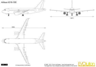 The Blueprints Com Vector Drawing Airbus A319 100 Airbus Vector Drawing Vector